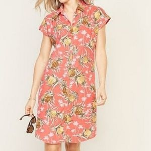 Old Navy Pineapple Print Shirt Dress